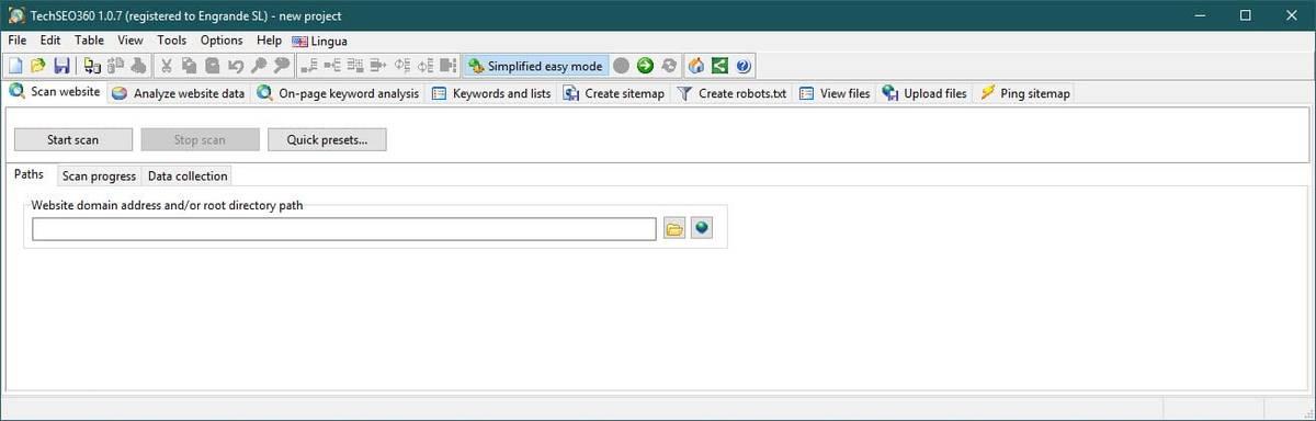 TechSEO360 easy settings interface